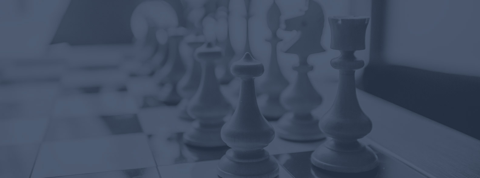 Chess pieces on a board representing containing costs for daily operations with due diligence services