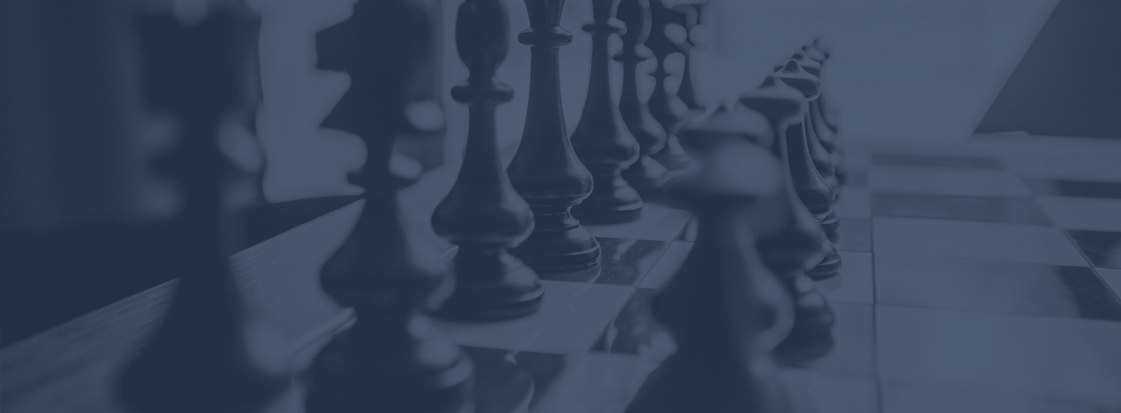 Chess pieces representing Diligentiam developing strategy through due diligence for banks
